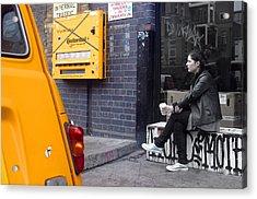 Merge Into Yellow Acrylic Print by Jez C Self