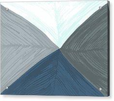 Acrylic Print featuring the drawing Merge by Jill Lenzmeier