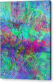 Acrylic Print featuring the digital art Merged 1 by Kate Word