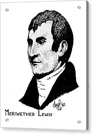 Meriwether Lewis Acrylic Print by Clayton Cannaday
