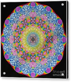 Merkaba Chakra 2 Acrylic Print by Nofirstname Aurora