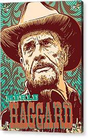 Merle Haggard Pop Art Acrylic Print by Jim Zahniser