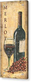 Merlot Wine And Grapes Acrylic Print by Debbie DeWitt