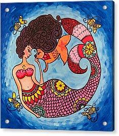 Mermaid And Catfish Acrylic Print
