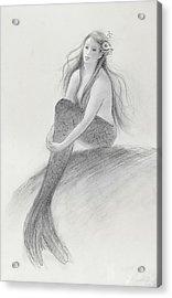 Mermaid Christina In The Sunshine Acrylic Print by Tina Obrien