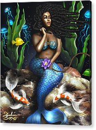 Yemaya Mermaid  Acrylic Print