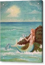 Mermaid Dreams Acrylic Print