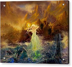 Acrylic Print featuring the painting Mermaid Enchantress by Steve Roberts