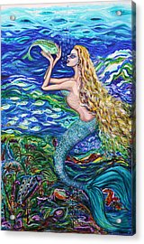 Mermaid Fishnet  Acrylic Print