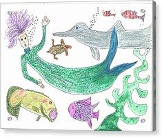 Mermaid Hello Acrylic Print