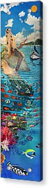 Mermaid In Paradise Acrylic Print by Bonnie Siracusa