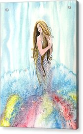 Mermaid In The Mist Acrylic Print