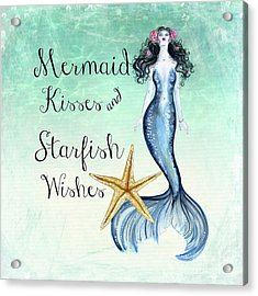 Mermaid Kisses Acrylic Print