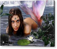 Mermaid Lagoon Acrylic Print