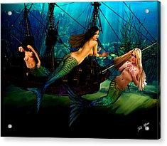 Mermaid Shipwreck  Acrylic Print