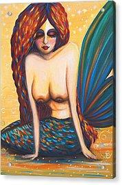 Mermaid Wet Acrylic Print by Beryllium Canvas