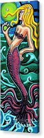 Mermaid With Pearl Acrylic Print by Genevieve Esson