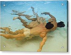 Mermen - Sand And Sea Acrylic Print by Thomas Mitchell