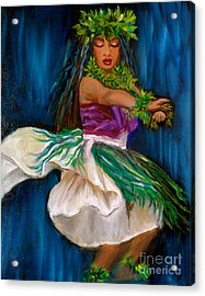 Merrie Monarch Hula Acrylic Print by Jenny Lee