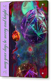 Merry And Bright Holidays Acrylic Print