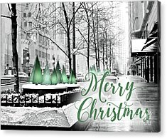 Merry Christmas Chicago Acrylic Print