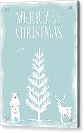 Merry Christmas Funky Animals  Acrylic Print by Amanda Lakey