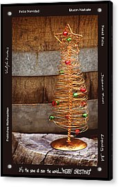 Merry Christmas Acrylic Print by Holly Kempe
