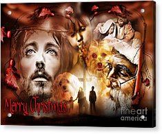 Acrylic Print featuring the digital art Merry Christmas by Kathy Tarochione
