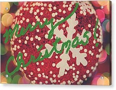 Merry Christmas Acrylic Print by Laurie Search