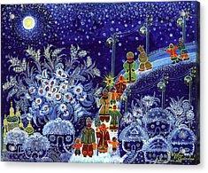 Merry Christmas Acrylic Print by Olena Kulyk