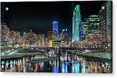Acrylic Print featuring the photograph Merry Christmas Omaha by Susan Rissi Tregoning