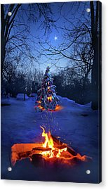 Acrylic Print featuring the photograph Merry Christmas by Phil Koch