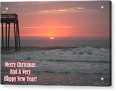 Merry Christmas Sunrise  Acrylic Print