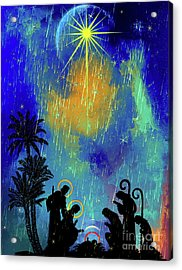 Acrylic Print featuring the painting  Merry Christmas To All. by Andrzej Szczerski
