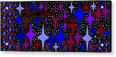 Merry Christmas To All, Starry, Starry Night Acrylic Print