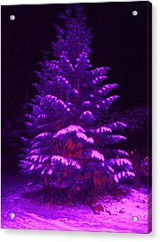 Merry Christmas Tree Acrylic Print by Laurie Kidd