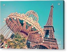 Merry Go Paris Acrylic Print