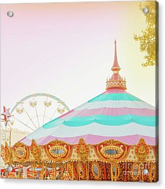 Acrylic Print featuring the photograph Merry-go-round by Cindy Garber Iverson