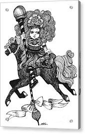 Merry-go-round Girl Acrylic Print