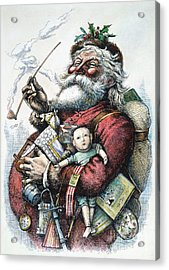Merry Old Santa Claus Acrylic Print by Granger