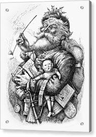 Merry Old Santa Claus Acrylic Print