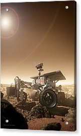 Acrylic Print featuring the digital art Mers Rover by Bryan Versteeg