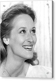 Meryl Streep (b.1949) Acrylic Print by Granger