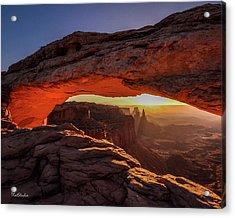 Mesa Arch At Sunrise 1, Canyonlands National Park, Utah Acrylic Print