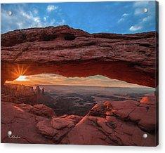 Mesa Arch At Sunrise 3, Canyonlands National Park, Utah Acrylic Print