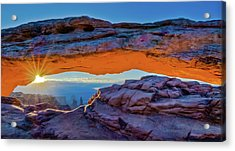 Mesa Arch At Sunrise Acrylic Print by Harry Strharsky
