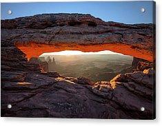 Mesa Arch At Sunrise Acrylic Print by Mark Kiver