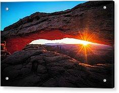 Mesa Arch Acrylic Print by Edgars Erglis