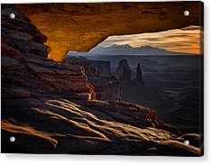 Acrylic Print featuring the photograph Mesa Arch Glow by Jaki Miller