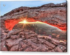 Acrylic Print featuring the photograph Mesa Arch Majesty - Canyonlands National Park by Gregory Ballos